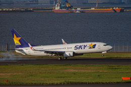 ゆーすきんさんが、羽田空港で撮影したスカイマーク 737-86Nの航空フォト(飛行機 写真・画像)