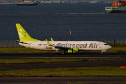 ゆーすきんさんが、羽田空港で撮影したソラシド エア 737-86Nの航空フォト(飛行機 写真・画像)
