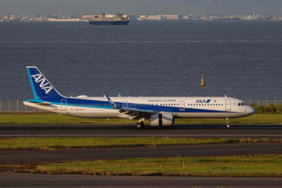 ゆーすきんさんの全日空 Airbus A321neo (JA136A) 航空フォト