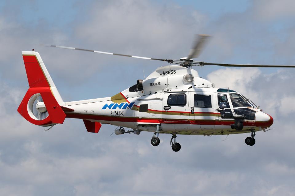 やまけんさんの東邦航空 Aerospatiale SA365/AS365/565 Dauphin 2 (JA6656) 航空フォト