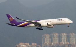 Asamaさんが、香港国際空港で撮影したタイ国際航空 A350-941の航空フォト(飛行機 写真・画像)