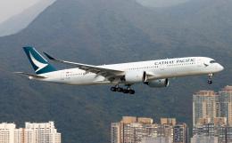 Asamaさんが、香港国際空港で撮影したキャセイパシフィック航空 A350-941の航空フォト(飛行機 写真・画像)
