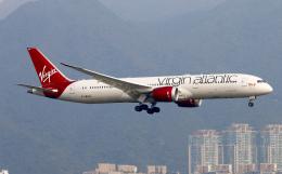 Asamaさんが、香港国際空港で撮影したヴァージン・アトランティック航空 787-9の航空フォト(飛行機 写真・画像)