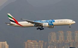 Asamaさんが、香港国際空港で撮影したエミレーツ航空 777-31H/ERの航空フォト(飛行機 写真・画像)
