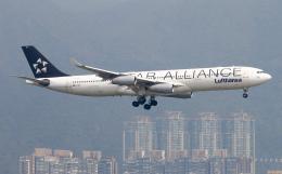 Asamaさんが、香港国際空港で撮影したルフトハンザドイツ航空 A340-313Xの航空フォト(飛行機 写真・画像)