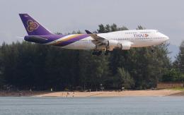hs-tgjさんが、プーケット国際空港で撮影したタイ国際航空 747-4D7の航空フォト(飛行機 写真・画像)