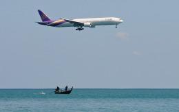 hs-tgjさんが、プーケット国際空港で撮影したタイ国際航空 777-3D7の航空フォト(飛行機 写真・画像)