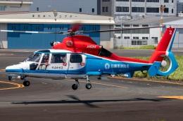 T spotterさんが、東京ヘリポートで撮影した川崎市消防航空隊 AS365N3 Dauphin 2の航空フォト(飛行機 写真・画像)