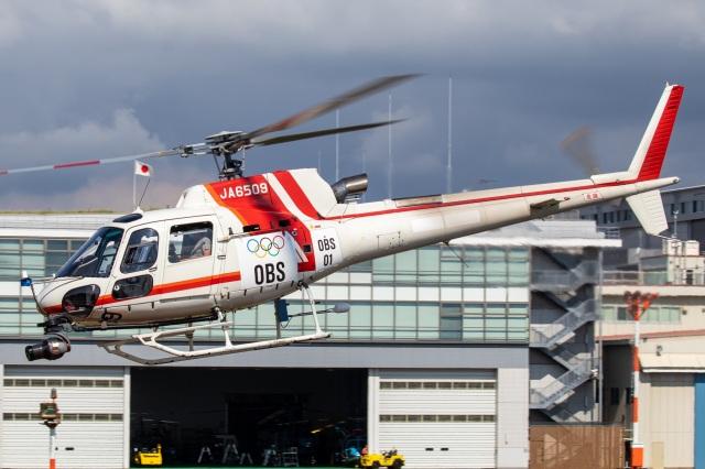 T spotterさんが、東京ヘリポートで撮影した朝日航洋 AS350B3 Ecureuilの航空フォト(飛行機 写真・画像)