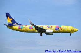 れんしさんが、福岡空港で撮影したスカイマーク 737-8ALの航空フォト(飛行機 写真・画像)