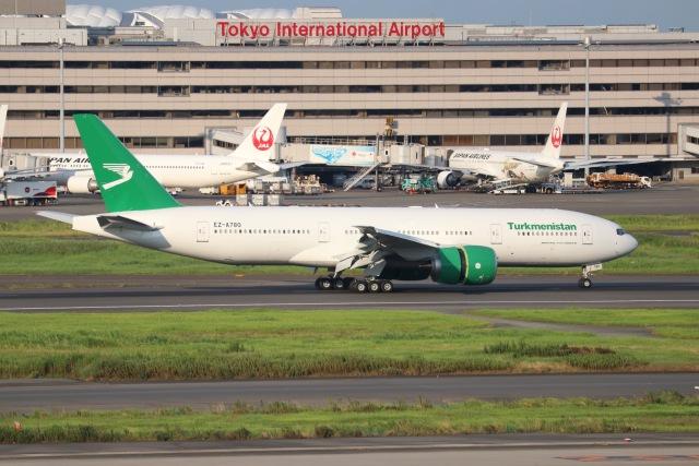ヨッシューさんが、羽田空港で撮影したトルクメニスタン航空 777-200/LRの航空フォト(飛行機 写真・画像)