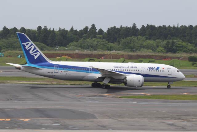 プルシアンブルーさんが、成田国際空港で撮影した全日空 787-8 Dreamlinerの航空フォト(飛行機 写真・画像)