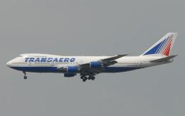 hs-tgjさんが、スワンナプーム国際空港で撮影したトランスアエロ航空 747-219Bの航空フォト(飛行機 写真・画像)