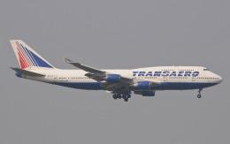 hs-tgjさんが、スワンナプーム国際空港で撮影したトランスアエロ航空 747-446の航空フォト(飛行機 写真・画像)