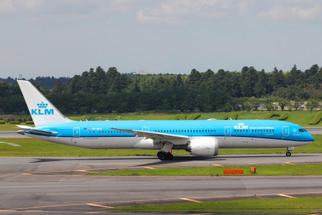 かっちゃん✈︎さんが、成田国際空港で撮影したKLMオランダ航空 787-9の航空フォト(飛行機 写真・画像)