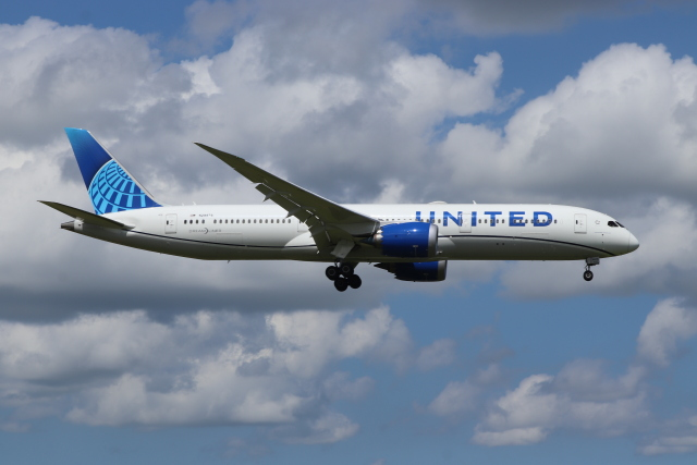 フレッシュマリオさんが、成田国際空港で撮影したユナイテッド航空 787-9の航空フォト(飛行機 写真・画像)