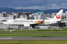 kan787allさんが、福岡空港で撮影した日本トランスオーシャン航空 737-8Q3の航空フォト(飛行機 写真・画像)