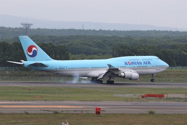 もぐ3さんが、新千歳空港で撮影した大韓航空 747-4B5の航空フォト(飛行機 写真・画像)