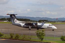 ツンさんが、鹿児島空港で撮影したオーロラ DHC-8-315Q Dash 8の航空フォト(飛行機 写真・画像)