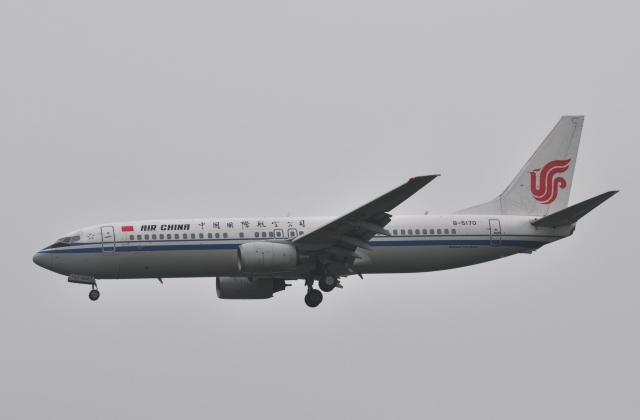 チャーリーマイクさんが、福岡空港で撮影した中国国際航空 737-808の航空フォト(飛行機 写真・画像)