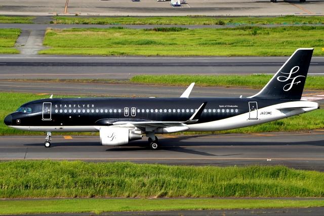 SFJ_capさんが、羽田空港で撮影したスターフライヤー A320-214の航空フォト(飛行機 写真・画像)