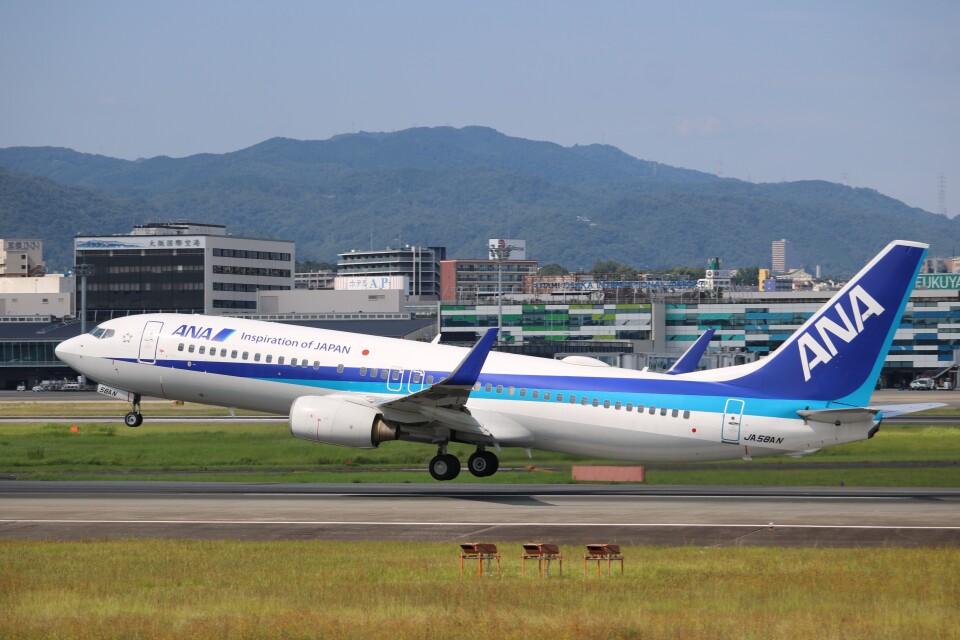 なかすぃ~さんの全日空 Boeing 737-800 (JA58AN) 航空フォト
