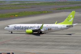 yabyanさんが、中部国際空港で撮影したソラシド エア 737-81Dの航空フォト(飛行機 写真・画像)