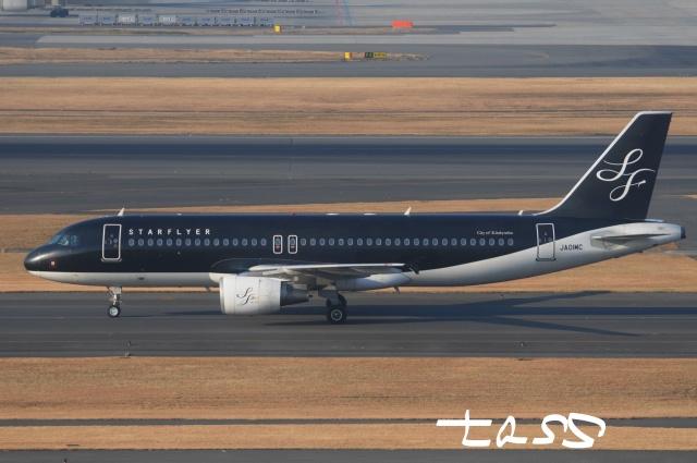 tassさんが、羽田空港で撮影したスターフライヤー A320-214の航空フォト(飛行機 写真・画像)