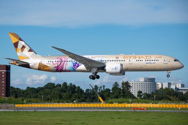 Tomo-Papaさんが、成田国際空港で撮影したエティハド航空 787-9の航空フォト(飛行機 写真・画像)