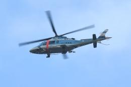 500さんが、自宅上空で撮影した山口県警察 A109E Powerの航空フォト(飛行機 写真・画像)