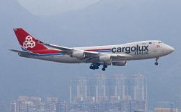 Asamaさんが、香港国際空港で撮影したカーゴルクス・イタリア 747-4R7Fの航空フォト(飛行機 写真・画像)