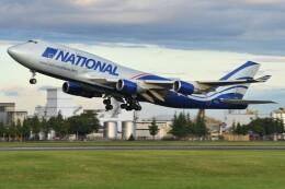 デルタおA330さんが、横田基地で撮影したナショナル・エアラインズ 747-428(BCF)の航空フォト(飛行機 写真・画像)