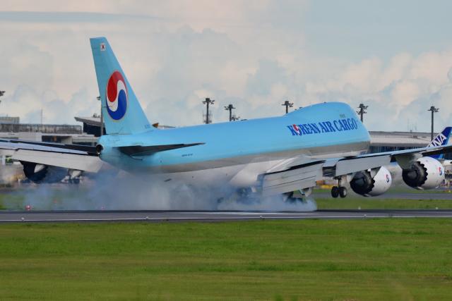 saoya_saodakeさんが、成田国際空港で撮影した大韓航空 747-8HTFの航空フォト(飛行機 写真・画像)