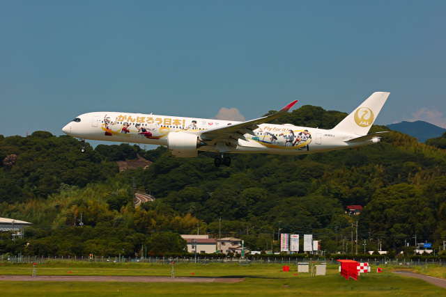 ansett747さんが、福岡空港で撮影した日本航空 A350-941の航空フォト(飛行機 写真・画像)