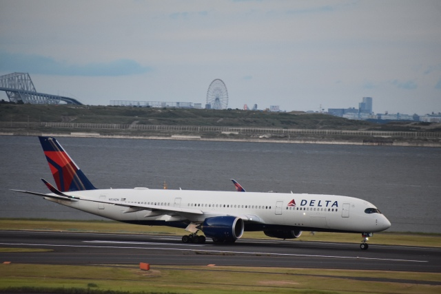 セッキーさんが、羽田空港で撮影したデルタ航空 A350-941の航空フォト(飛行機 写真・画像)