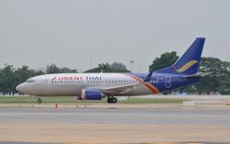 hs-tgjさんが、ドンムアン空港で撮影したオリエント・タイ航空 737-3T0の航空フォト(飛行機 写真・画像)