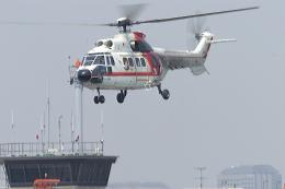 senyoさんが、東京ヘリポートで撮影した朝日航洋 AS332L Super Pumaの航空フォト(飛行機 写真・画像)