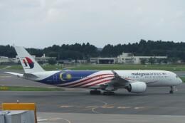 不揃いさんが、成田国際空港で撮影したマレーシア航空 A350-941の航空フォト(飛行機 写真・画像)