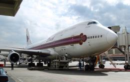 hs-tgjさんが、ドンムアン空港で撮影したタイ国際航空 747-4D7の航空フォト(飛行機 写真・画像)