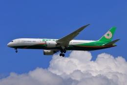 おっしーさんが、成田国際空港で撮影したエバー航空 787-9の航空フォト(飛行機 写真・画像)