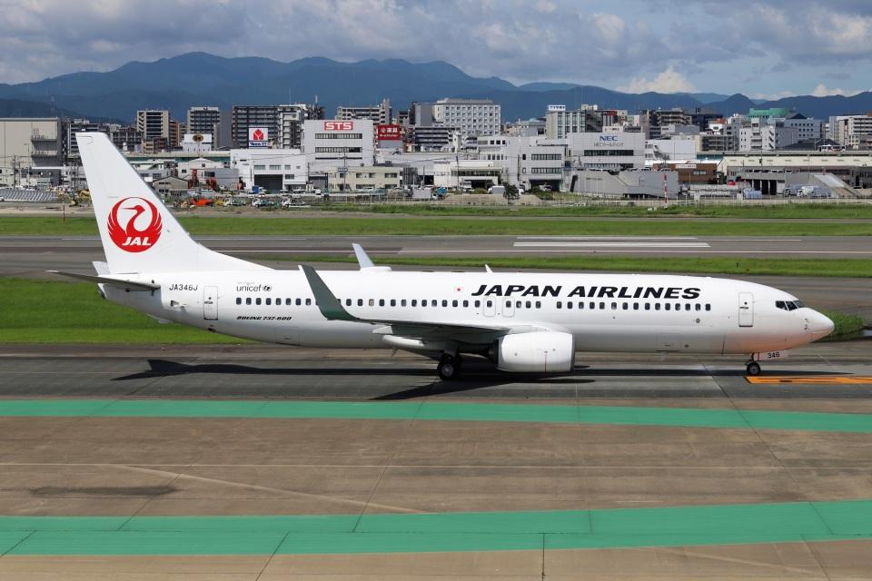 kan787allさんの日本航空 Boeing 737-800 (JA346J) 航空フォト