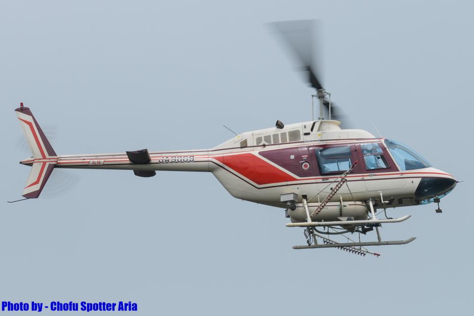 Chofu Spotter Ariaさんのヘリサービス Bell 206/406 (JA9869) 航空フォト