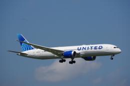 JA8037さんが、成田国際空港で撮影したユナイテッド航空 787-9の航空フォト(飛行機 写真・画像)