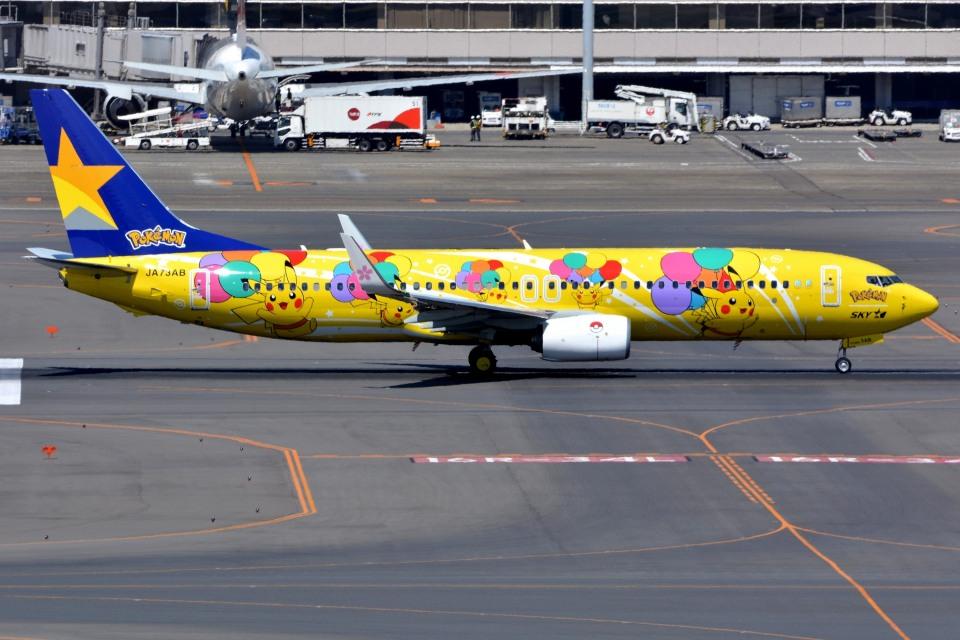 サンドバンクさんのスカイマーク Boeing 737-800 (JA73AB) 航空フォト