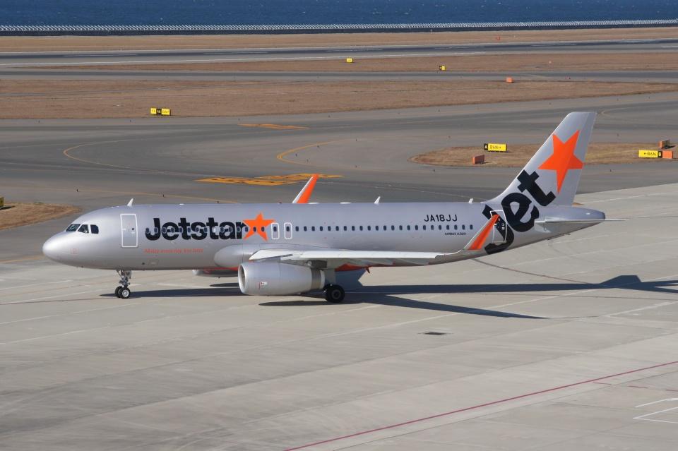 磐城さんのジェットスター・ジャパン Airbus A320 (JA18JJ) 航空フォト