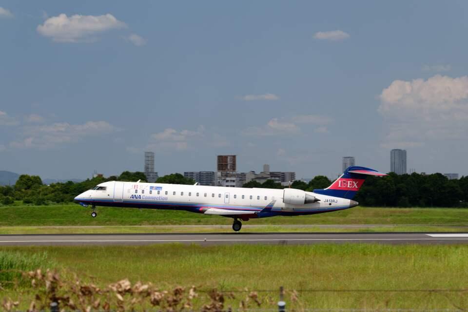 平凡なおっちゃんさんのアイベックスエアラインズ Bombardier CRJ-700 (JA13RJ) 航空フォト