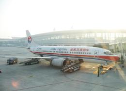 チャーリーマイクさんが、武漢天河国際空港で撮影した中国東方航空 737-36Rの航空フォト(飛行機 写真・画像)