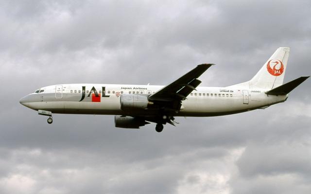 LEVEL789さんが、名古屋飛行場で撮影した日本航空 737-446の航空フォト(飛行機 写真・画像)