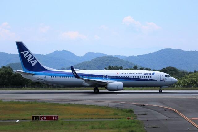 ヒロジーさんが、広島空港で撮影した全日空 737-881の航空フォト(飛行機 写真・画像)