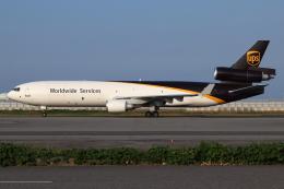 つみネコ♯2さんが、関西国際空港で撮影したUPS航空 MD-11Fの航空フォト(飛行機 写真・画像)
